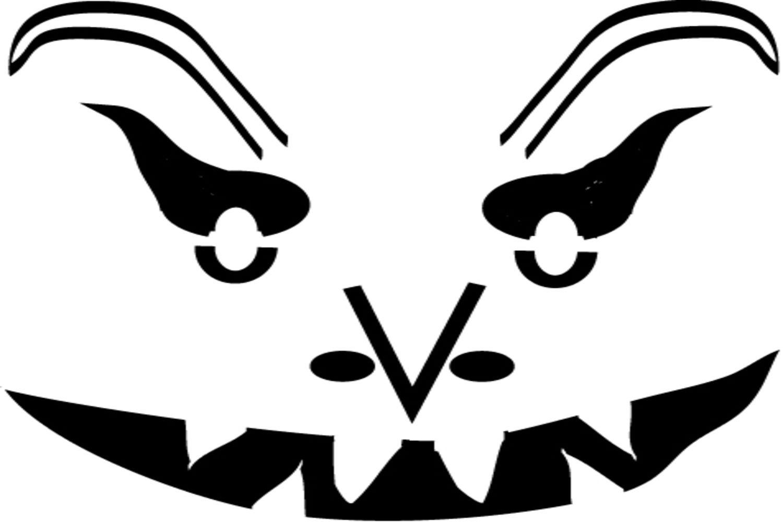 Free Scary Pumpkin Stencils - Scary Pumpkin Patterns Free Printable