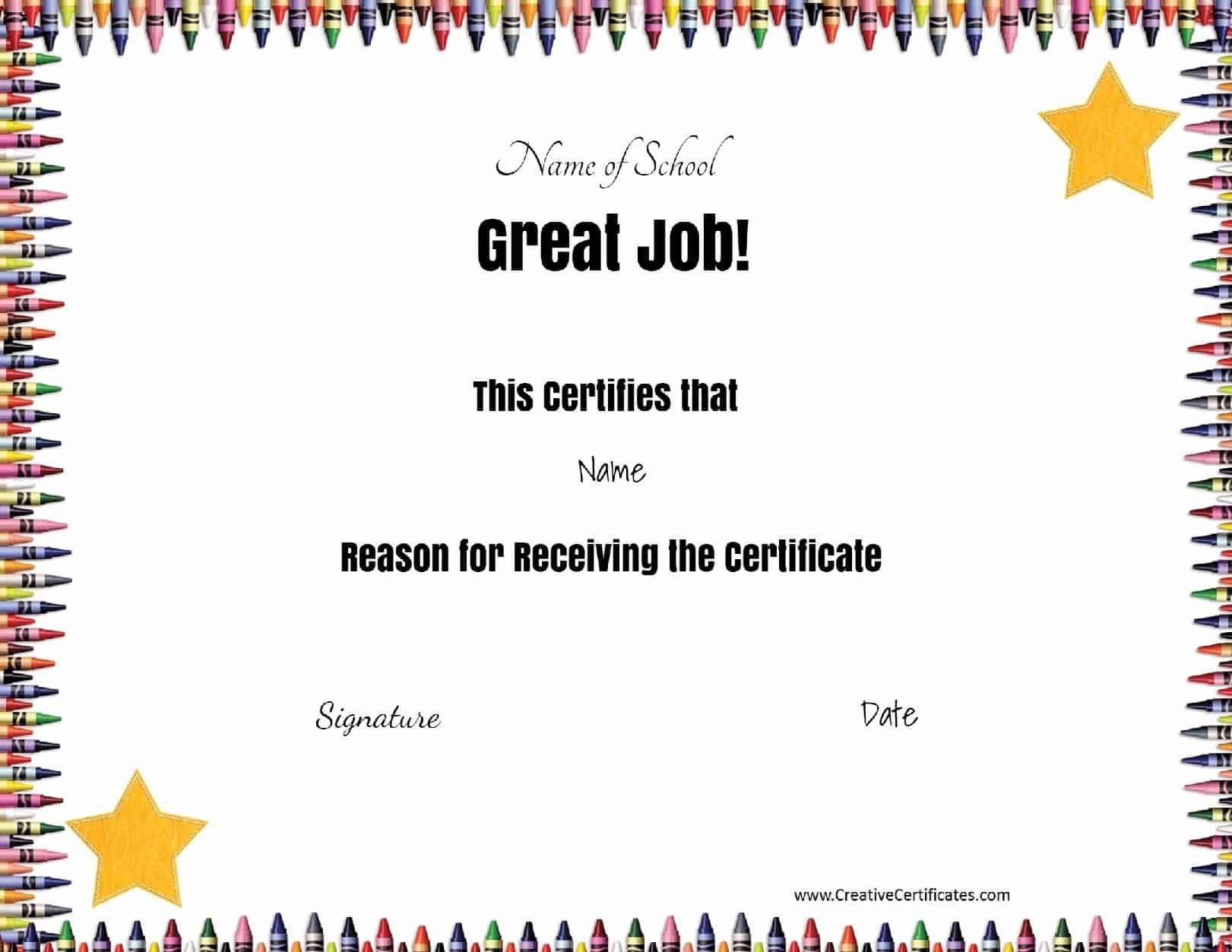 Free School Certificates & Awards - Free Printable School Certificates Templates