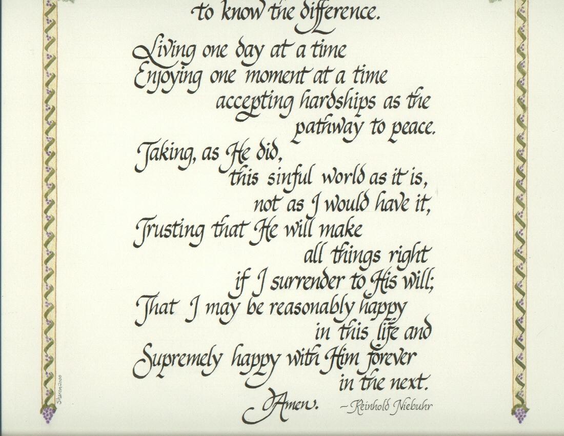Free Serenity Prayer Wallpaper - Wallpapersafari - Free Printable Serenity Prayer