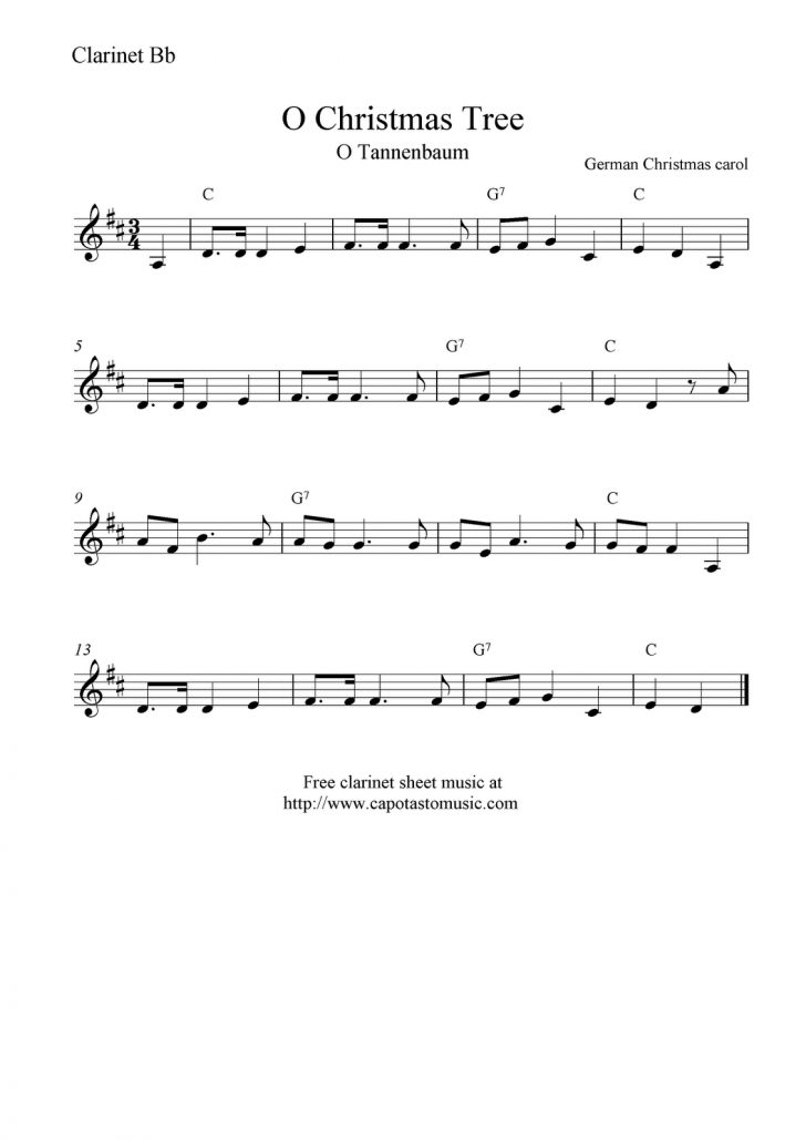 Free Printable Christmas Sheet Music For Clarinet