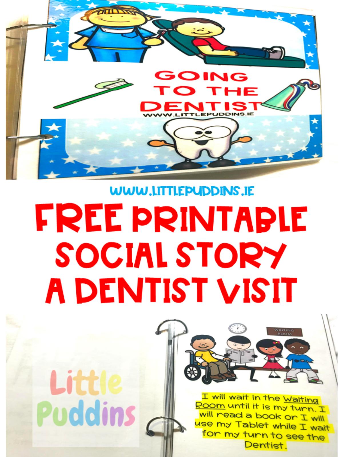 Free Social Story A Dentist Visit – Little Puddins Free Printables - Free Printable Social Stories