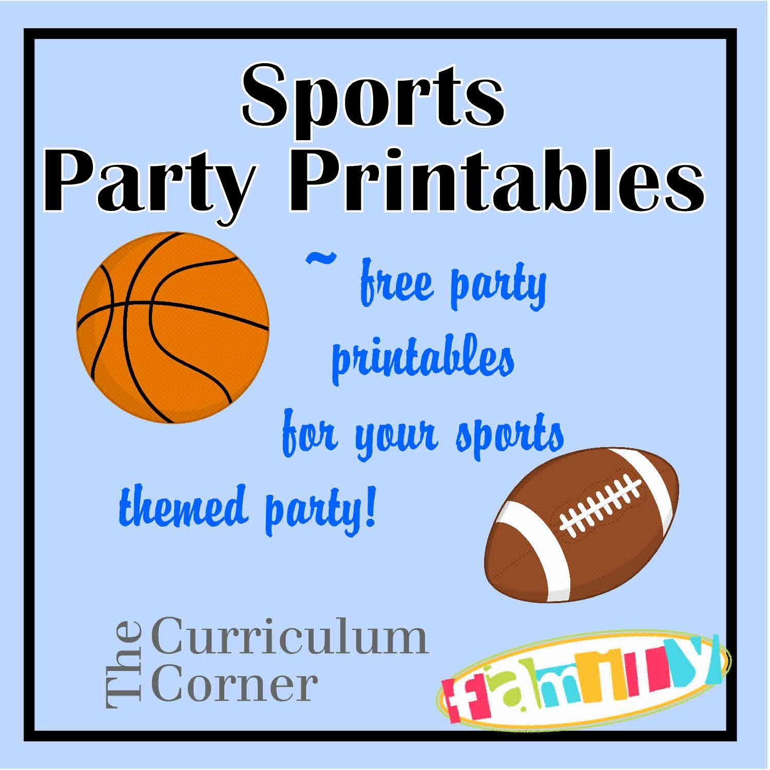 Free Sports Party Printables Include Candy Bar Wrappers, Water - Free Printable Basketball Cards