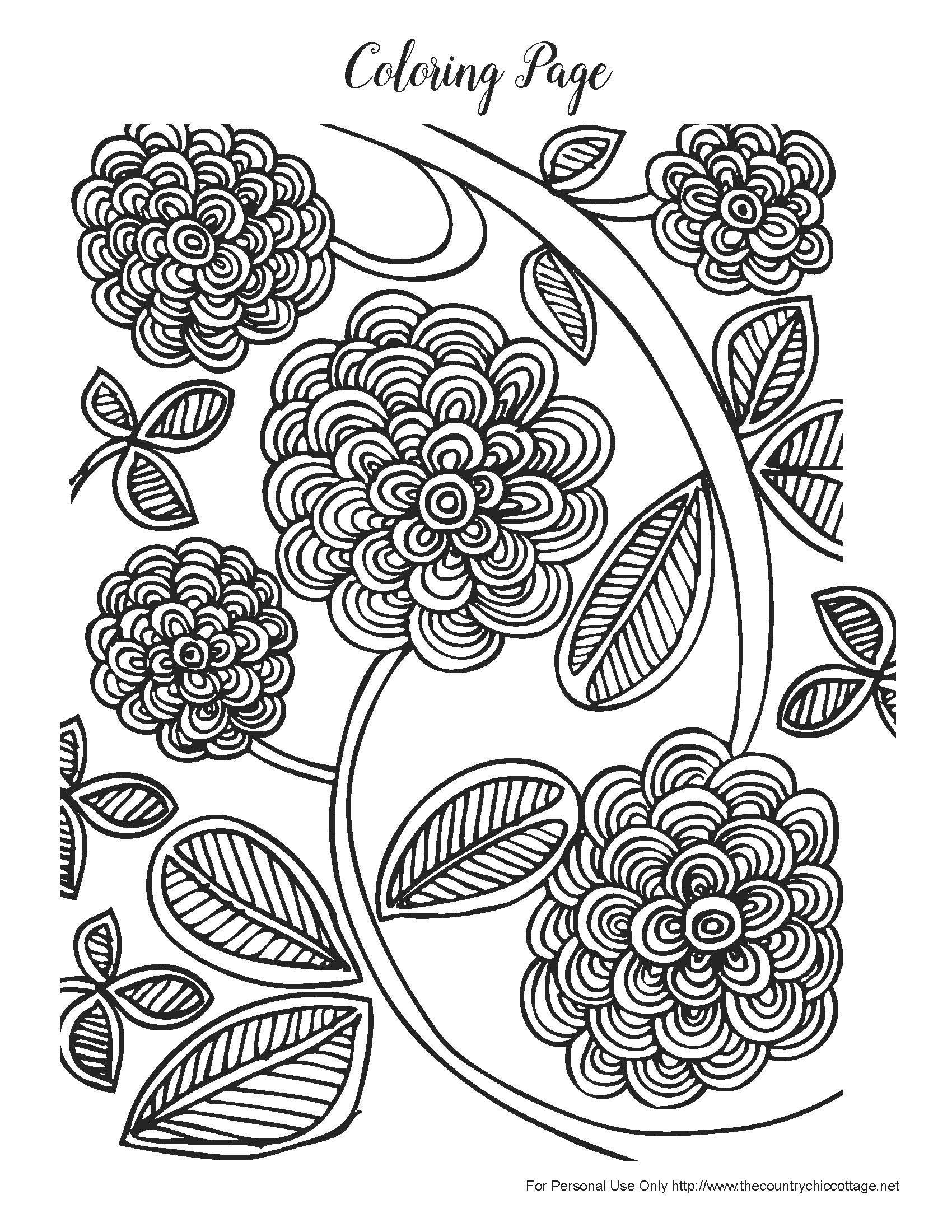 Free Spring Coloring Pages For Adults   Products I Love   Spring - Spring Coloring Sheets Free Printable