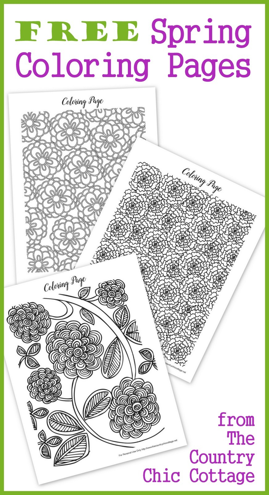 Free Spring Coloring Pages For Adults - The Country Chic Cottage - Free Printable Spring Coloring Pages For Adults
