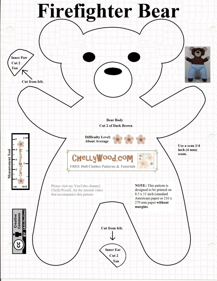 Free Printable Teddy Bear Clothes Patterns