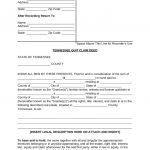 Free Tennessee Quit Claim Deed Form   Pdf | Word | Eforms – Free   Free Printable Beneficiary Deed