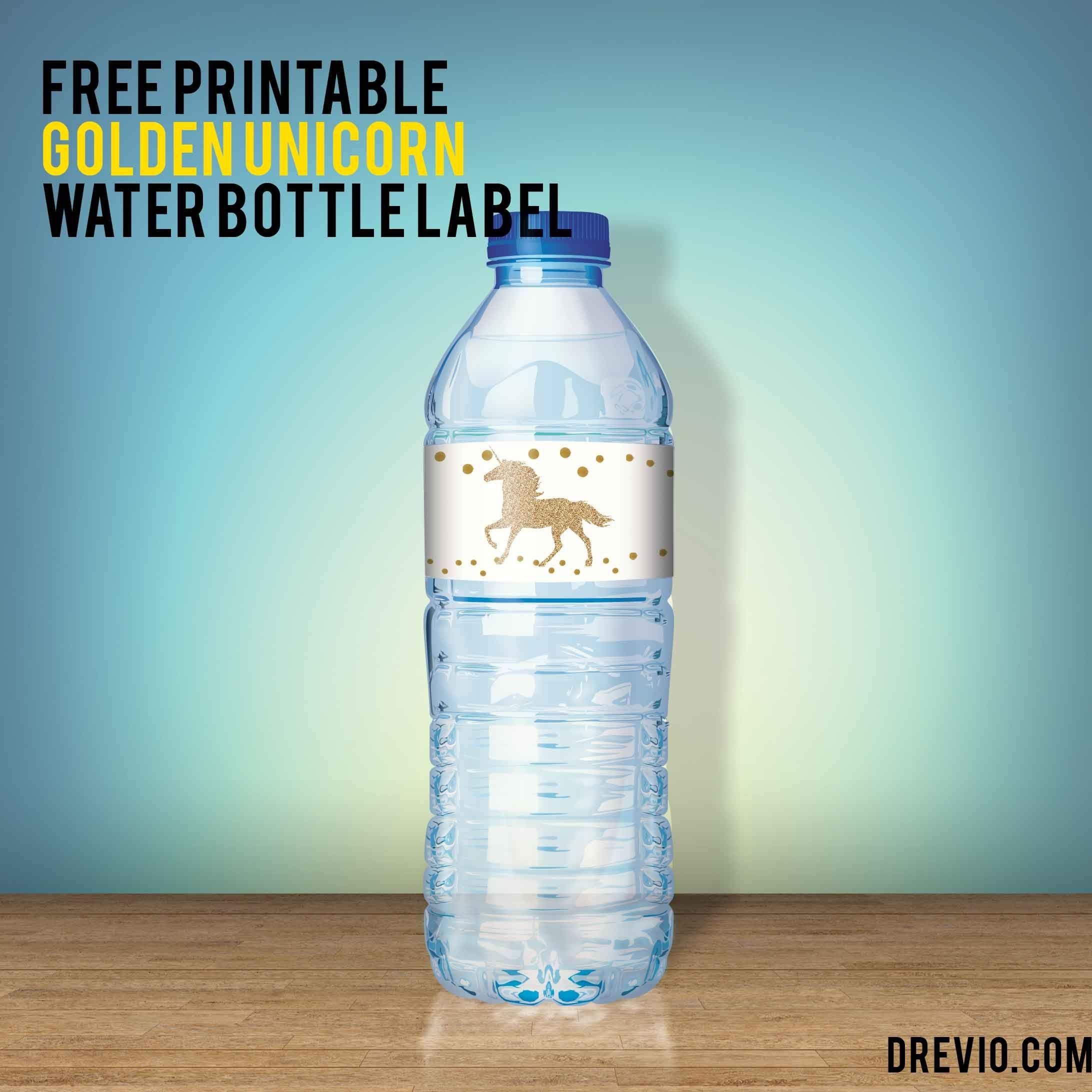 Free Unicorn Water Bottle Label -   Free Printable Birthday - Free Printable Water Bottle Labels For Birthday
