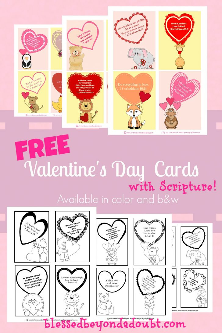 Free Printable Valentines Day Cards Kids