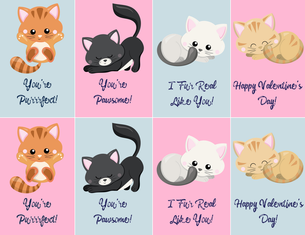 Free Valentine's Day Printables!   Budget Earth - Free Printable Cat Valentine Cards