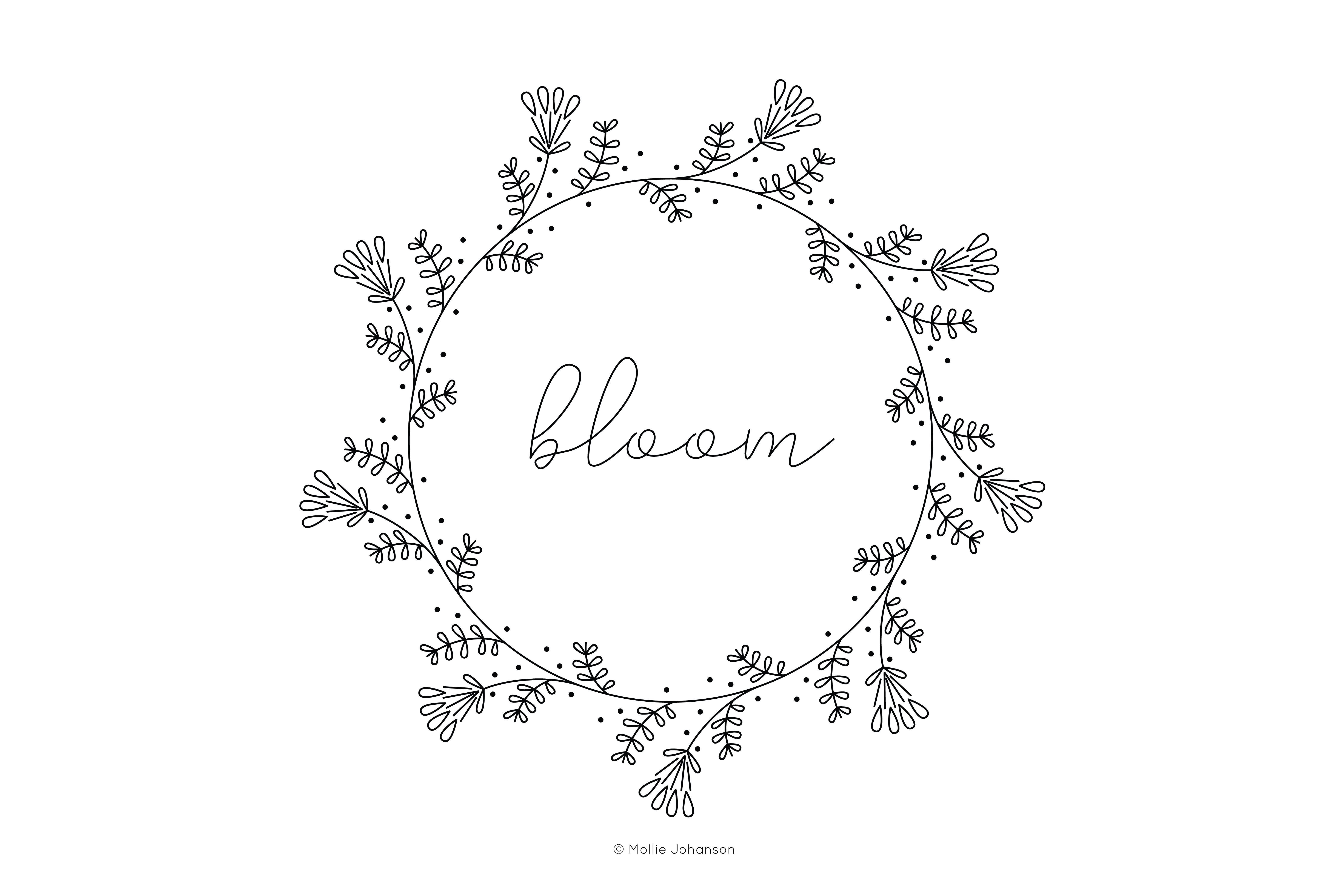 Free Vintage-Inspired Bloom Embroidery Pattern - Free Printable Embroidery Patterns