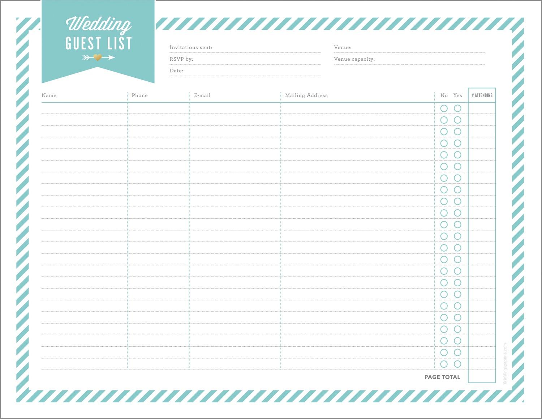 Free Wedding Planning Printables & Checklists - Free Printable Checklist