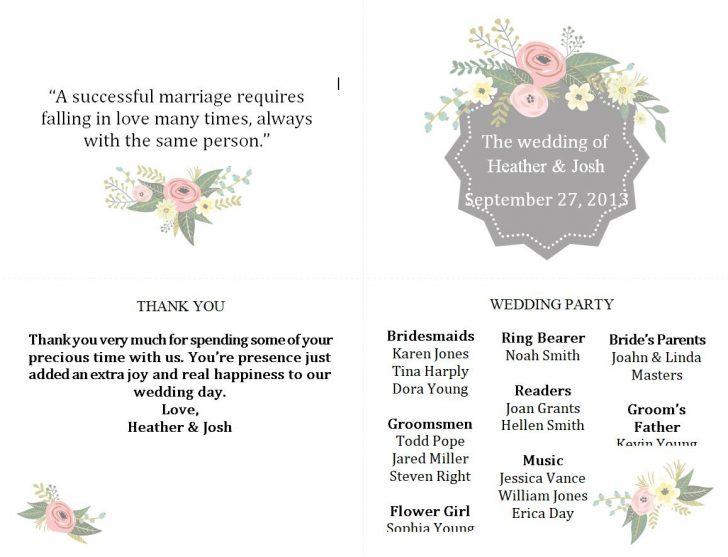 Free Printable Wedding Program Samples