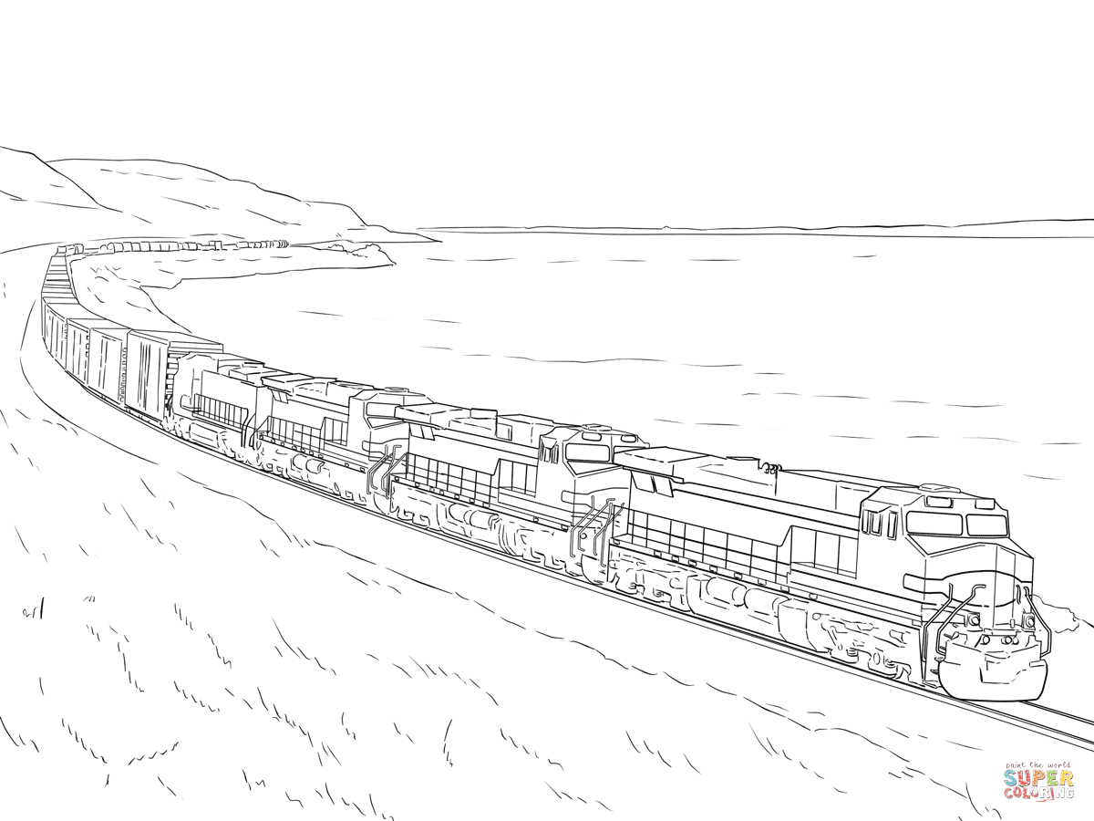 Freight Train Coloring Page   Free Printable Coloring Pages - Free Printable Train Pictures