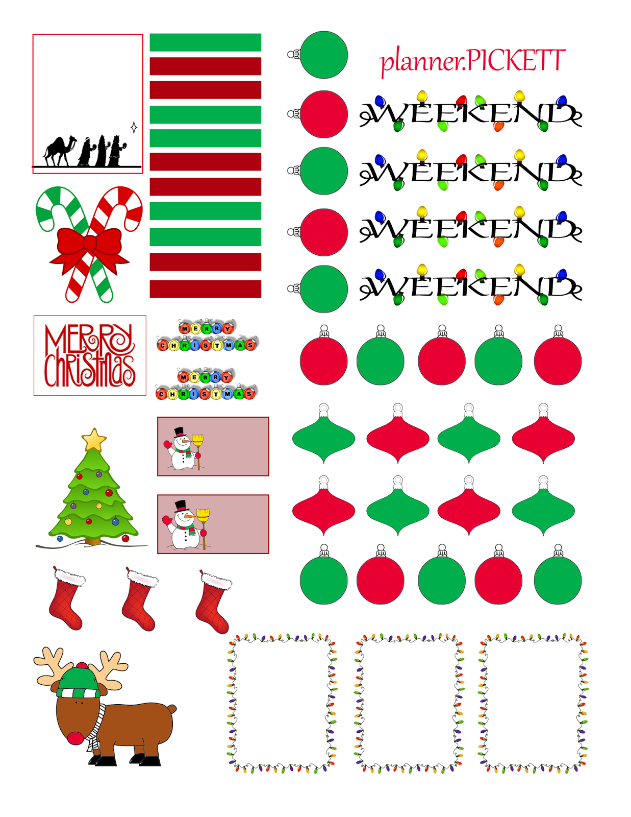Full Faith ::..: Christmas Free Sticker Printable | Planners - Free Printable Holiday Stickers