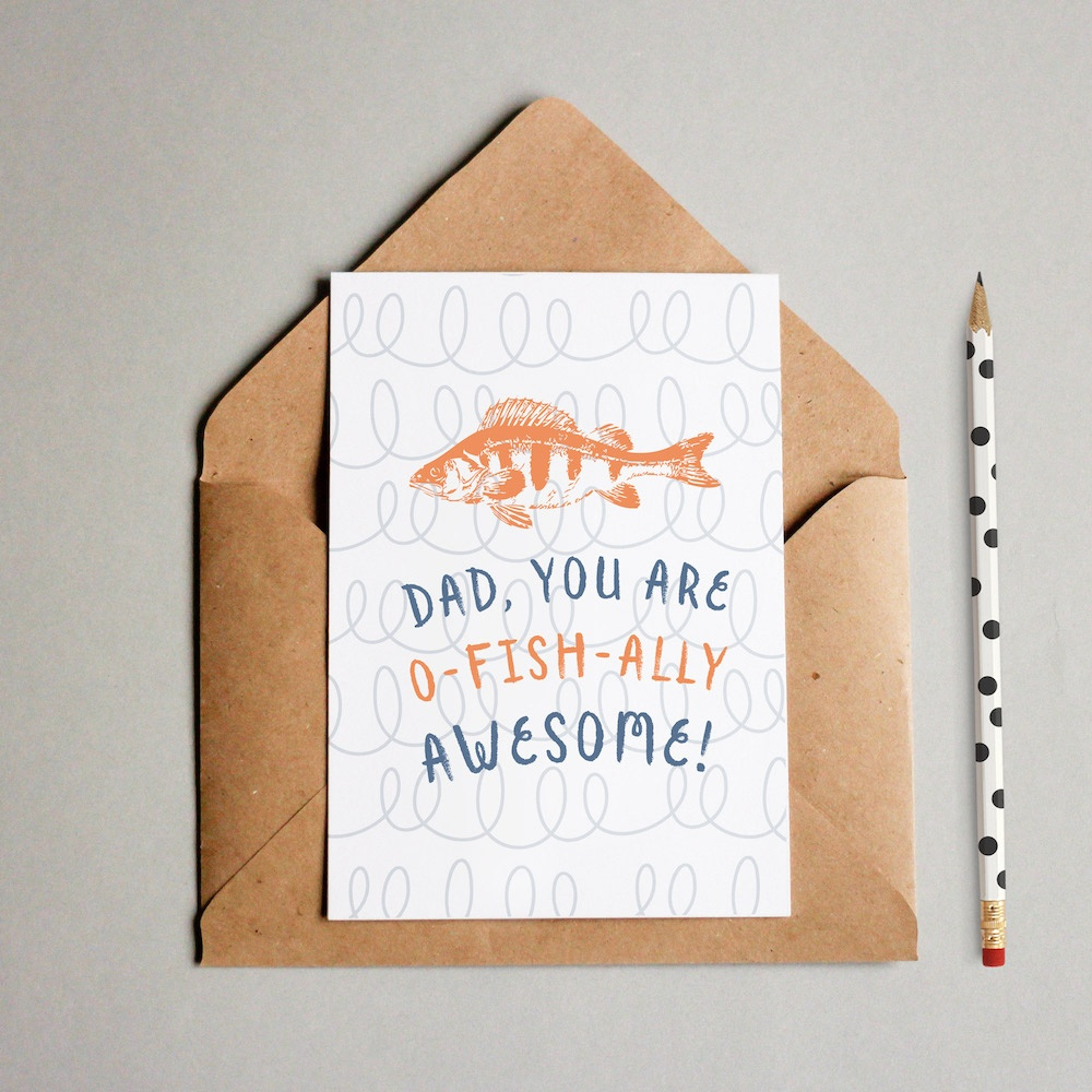Funny Free Printable Father's Day Card (O-Fish-Ally Awesome!) - Free Printable Fathers Day Cards