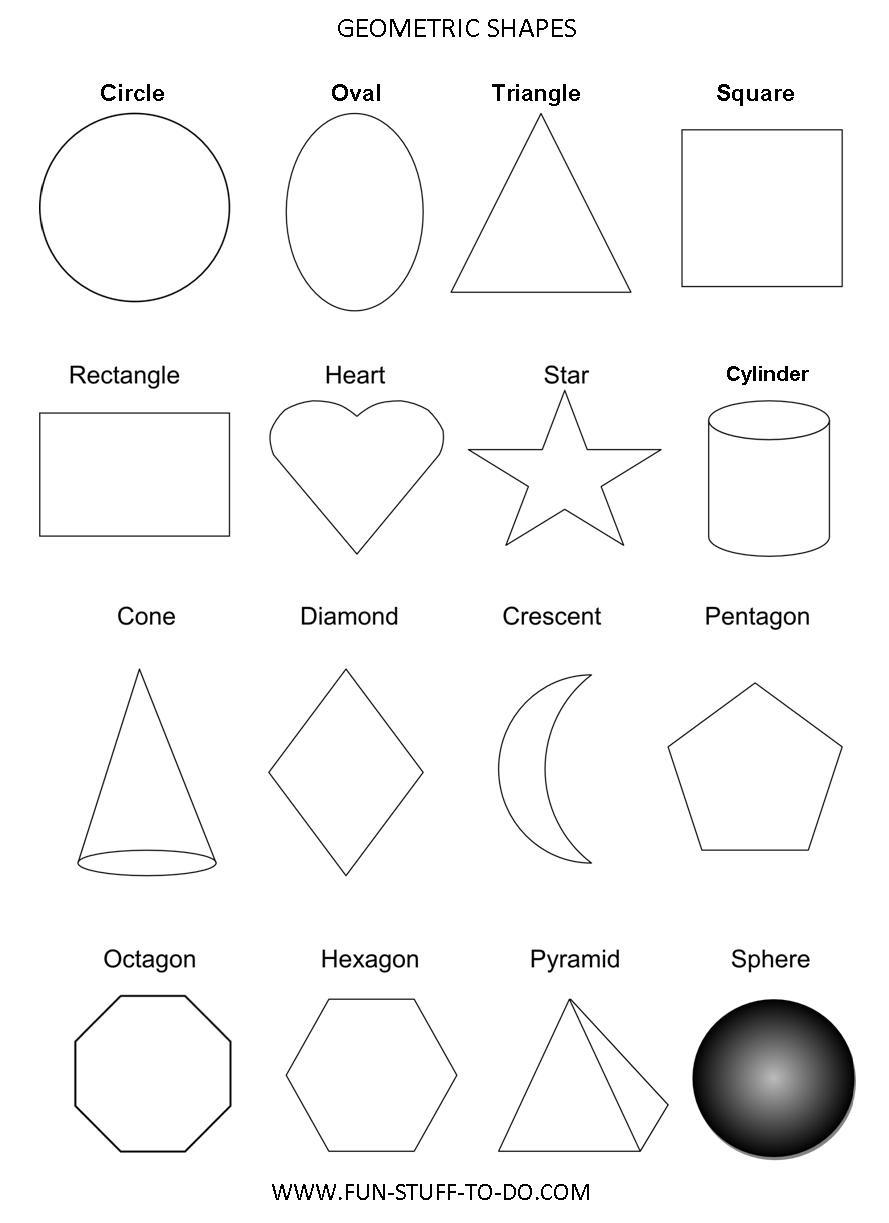 Geometric Shapes Worksheets   Free To Print - Free Printable Shapes Worksheets
