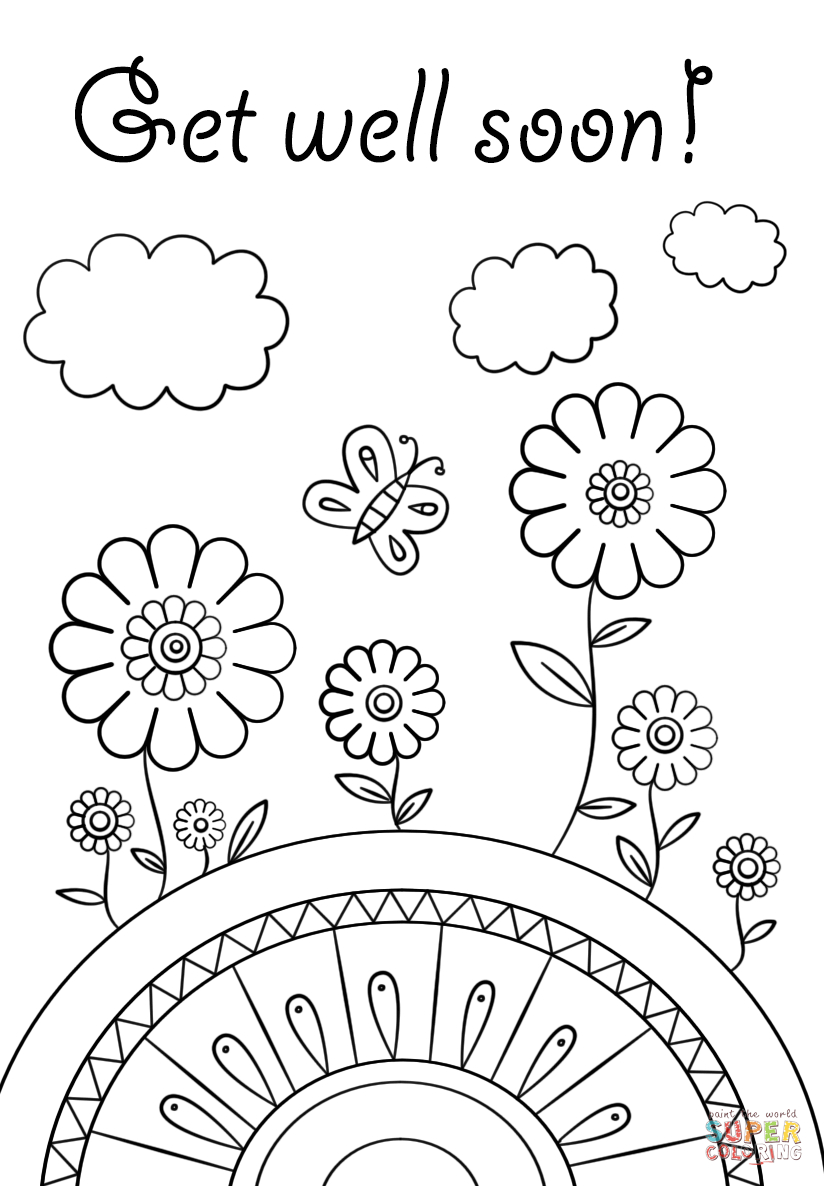 Get Well Soon Coloring Page | Free Printable Coloring Pages | Abe - Free Printable Get Well Soon Cards
