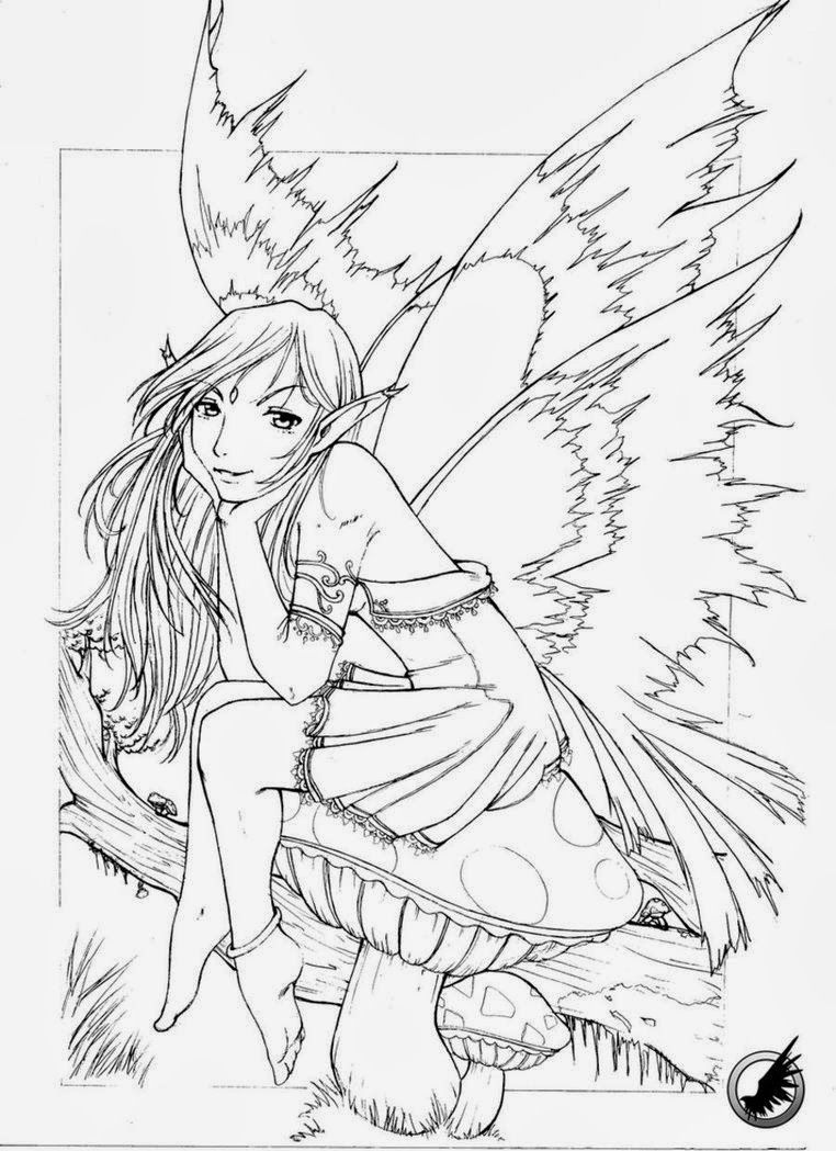 Gothic Coloring Pages For Adults - Bing Images | Stencils/coloring - Free Printable Coloring Pages For Adults Dark Fairies
