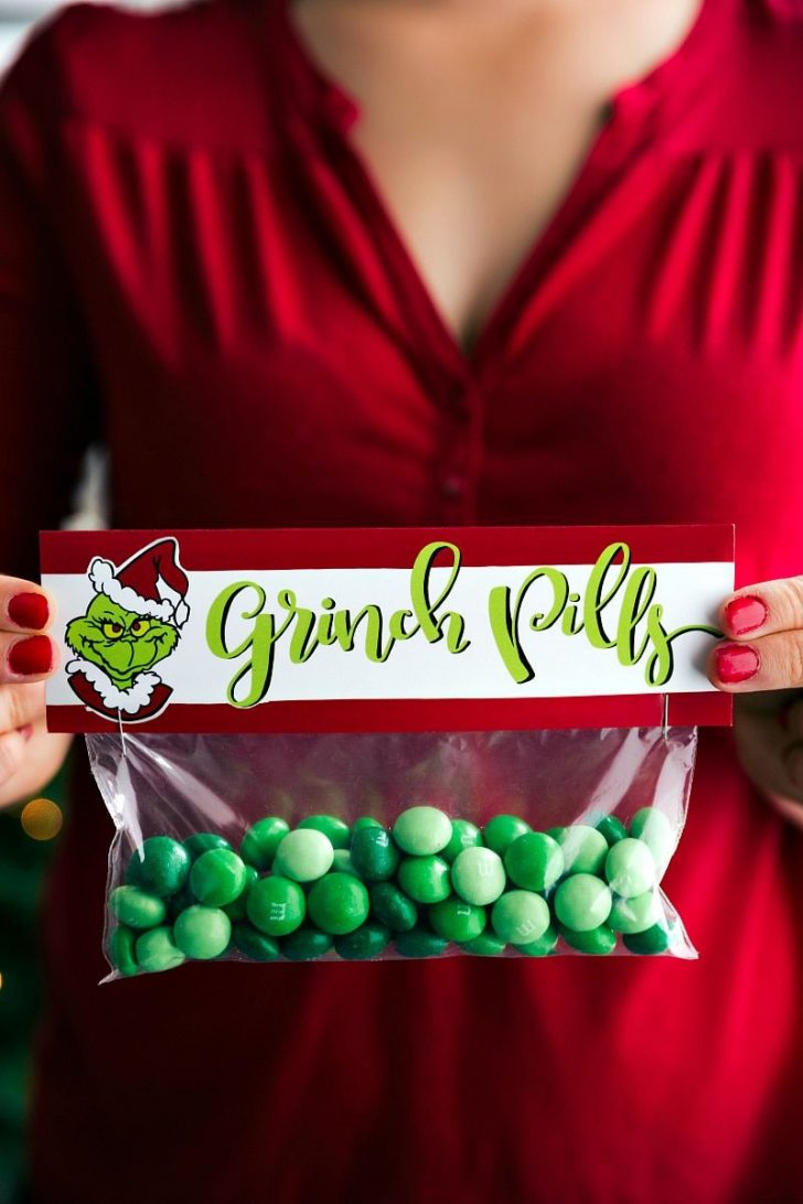 Grinch Pills Free Printable