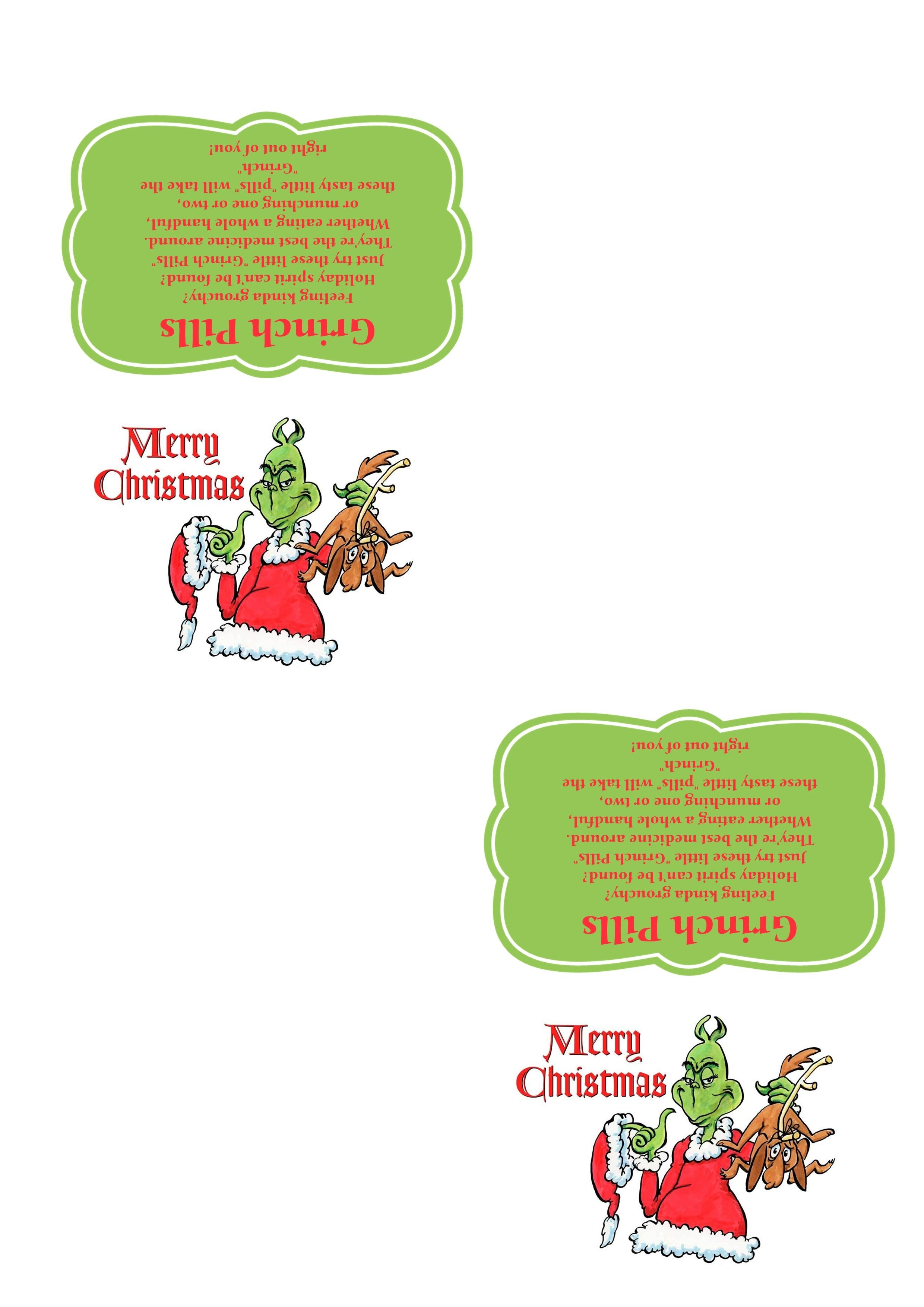 Grinch Pills - Template - 300 Dpi - Ready To Print. | Crafts - Grinch Pills Free Printable