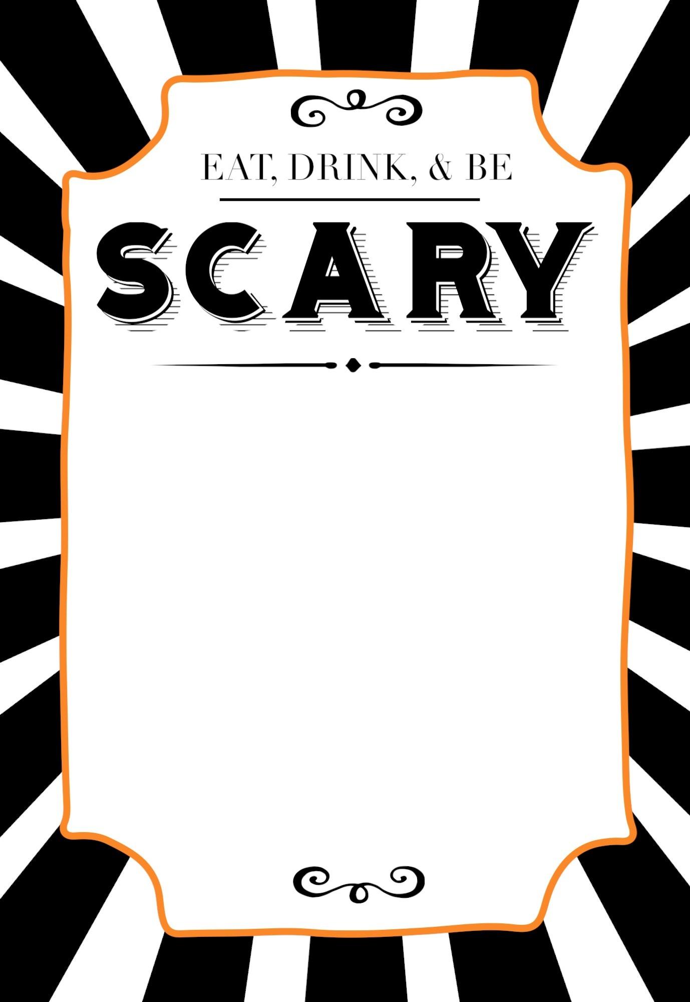 Halloween Invitations Free Printable Template - Paper Trail Design - Free Printable Halloween Invitations