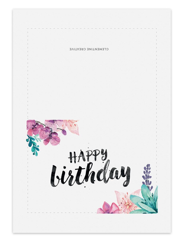 Happy Birthday Cards To Print Free — Birthday Invitation Examples - Free Online Printable Birthday Cards