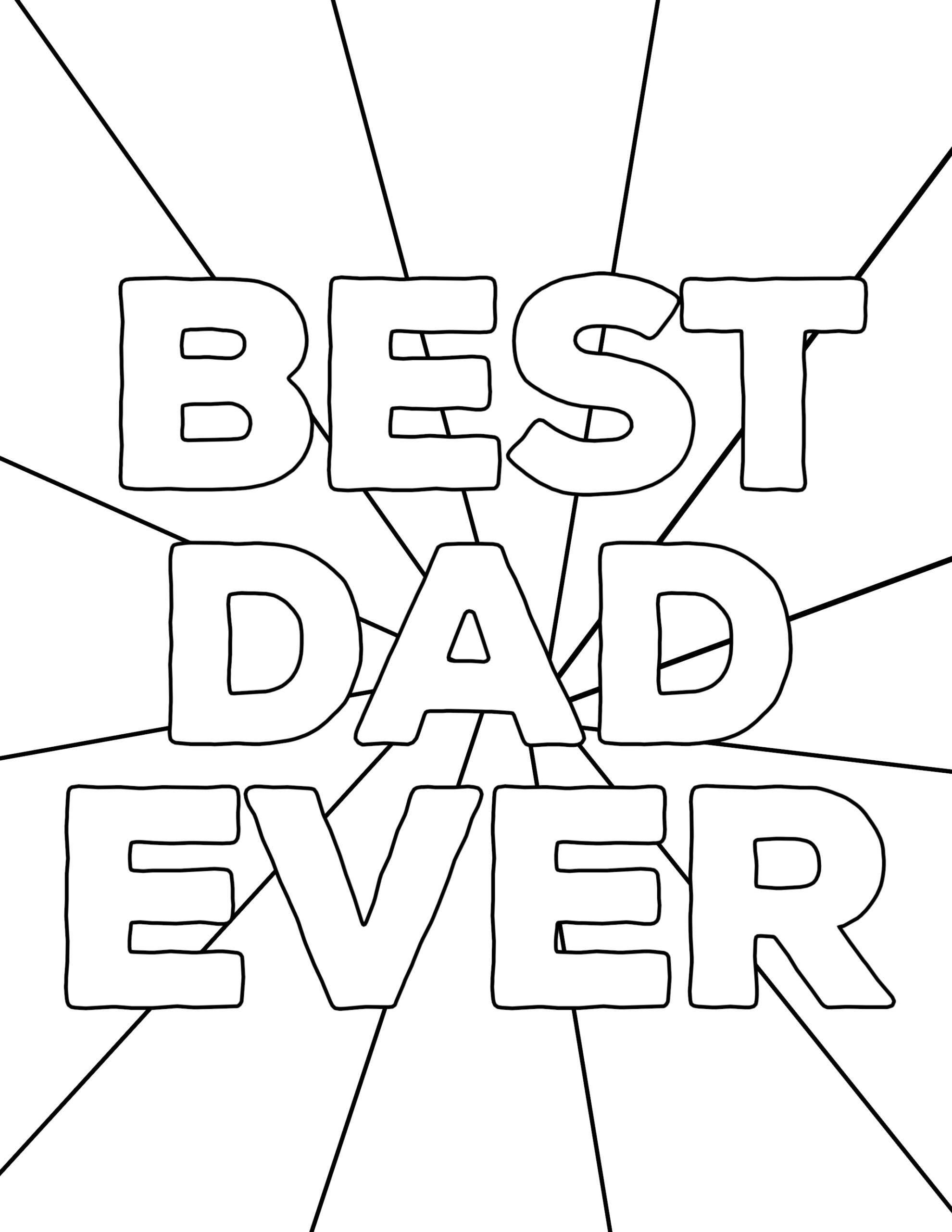 Happy Father's Day Coloring Pages Free Printables - Paper Trail Design - Free Printable Happy Fathers Day Grandpa Cards