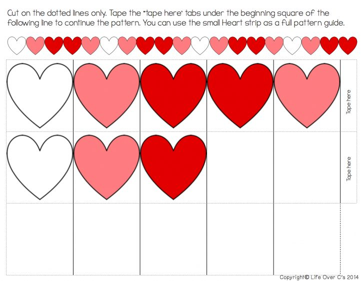 Free Printable Valentine Heart Patterns
