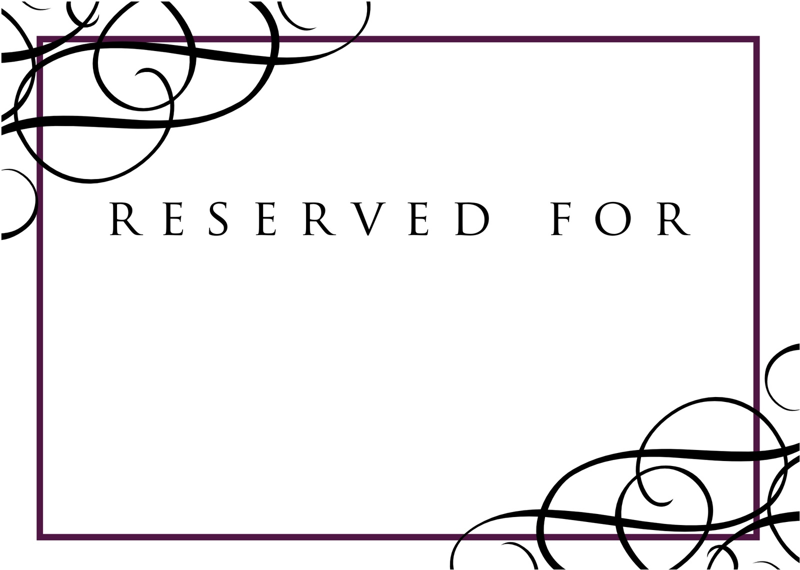 High Resolution Reserved Signs For Tables #11 Reserved Table Sign - Free Printable Reserved Table Signs