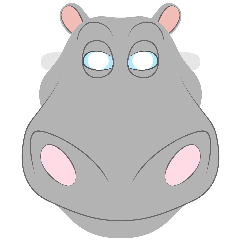 hippo face template - HD1500×1500