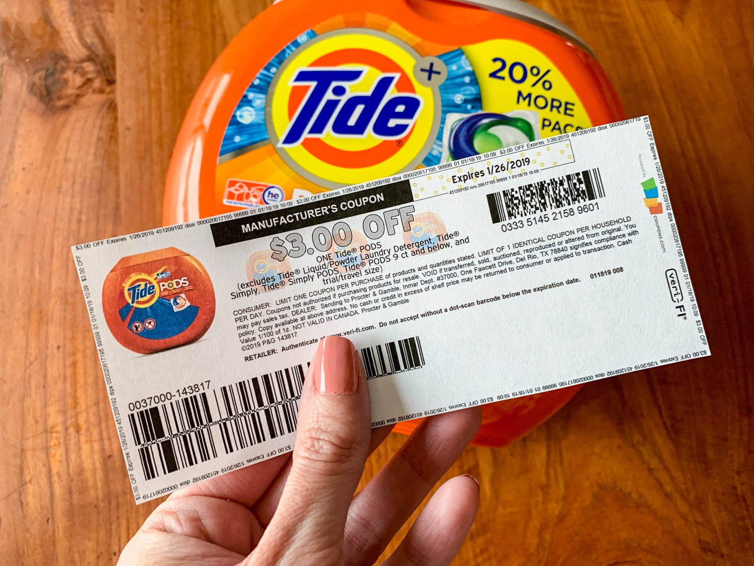 Hot* $3 Off Tide Pods Printable Coupon (Available For 7 Days Only - Free Printable Tide Simply Coupons