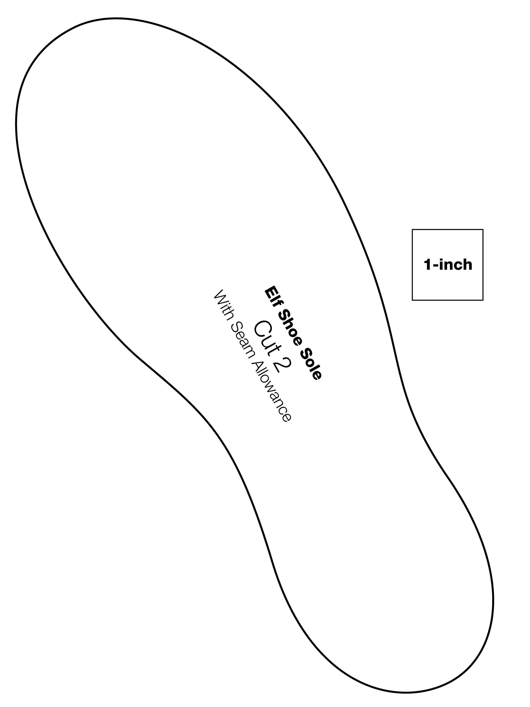 How To Sew Felt Elf Shoes - Free Printable Shoe Print Template