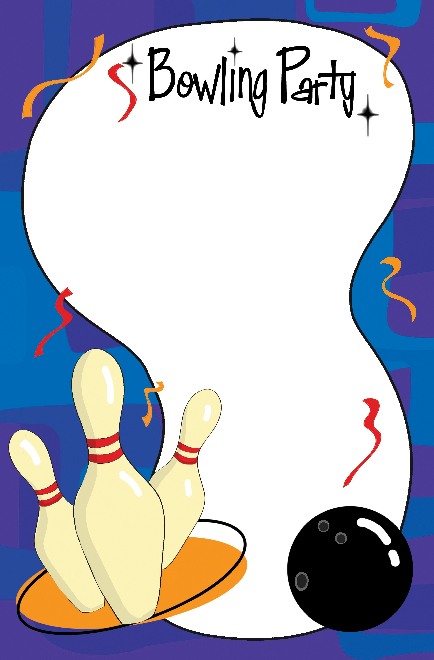 Ideas: Outstanding Bowling Invitations For Your Charming Party - Free Printable Bowling Birthday Party Invitations