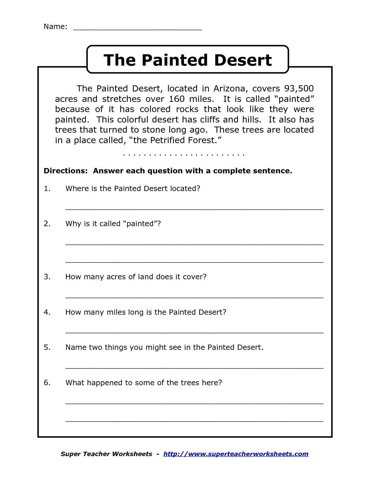 Image Result For Free Printable Worksheets For Grade 4 Comprehension - Free Printable Reading Comprehension Worksheets For Adults