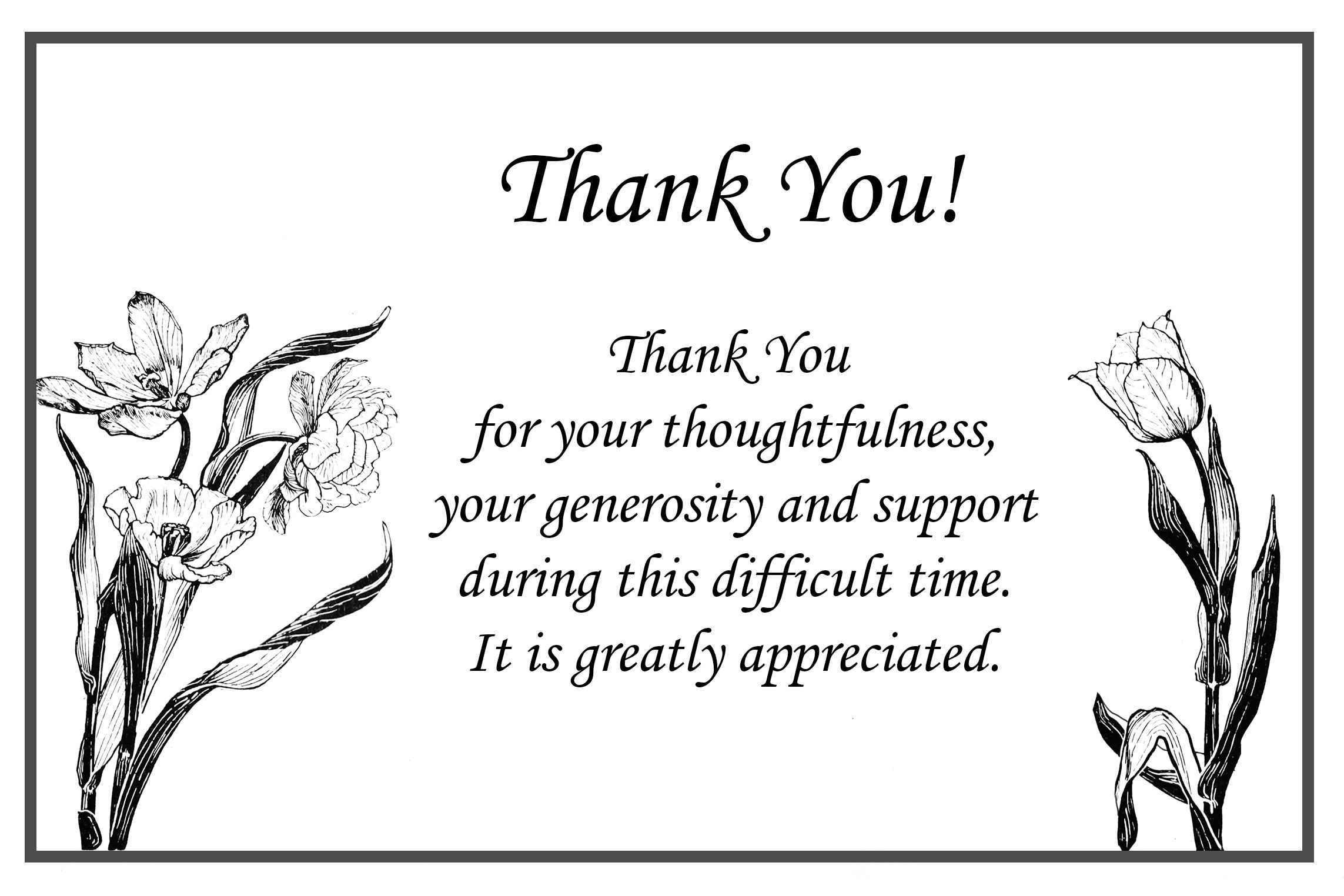 Image Result For Funeral Thank You Card Ideas   Mom   Funeral Thank - Thank You Sympathy Cards Free Printable