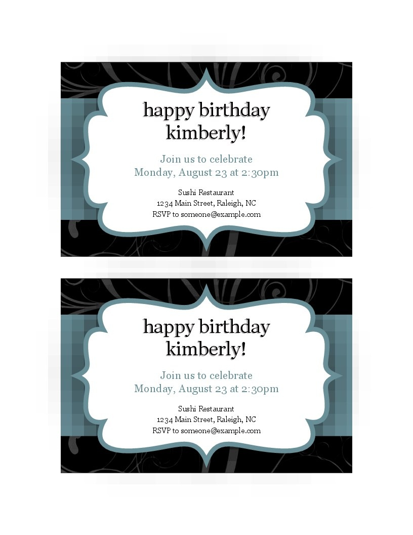Invitations - Office - Free Printable Thanksgiving Invitation Templates