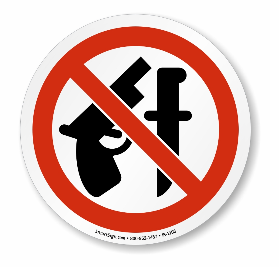 Iso Prohibited Action Signs - No Weapons Allowed Sign Free Png - Free Printable No Guns Allowed Sign