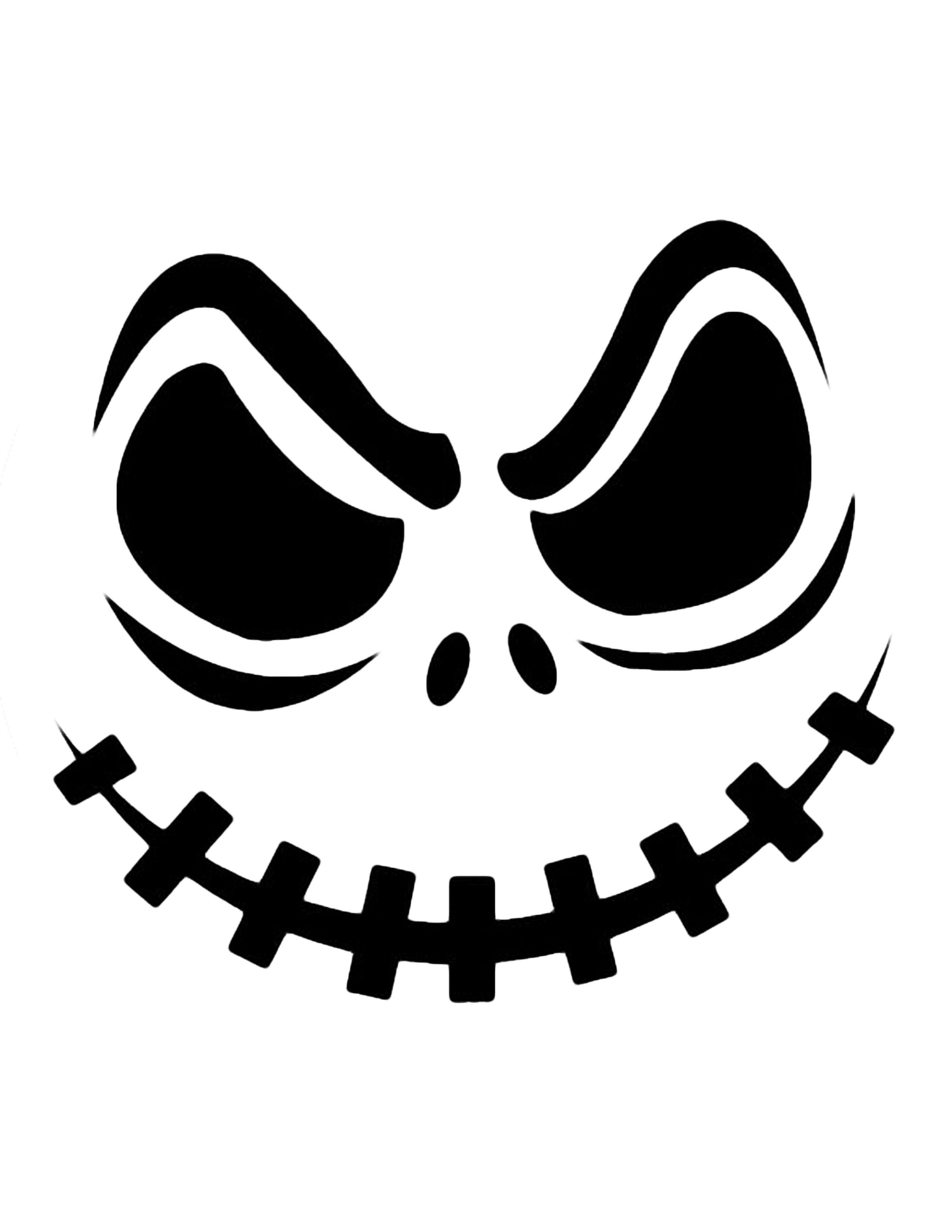 Jack Skellington Pumpkin   Cricut Cutter Ideas   Halloween Pumpkin - Free Printable Pumpkin Stencils