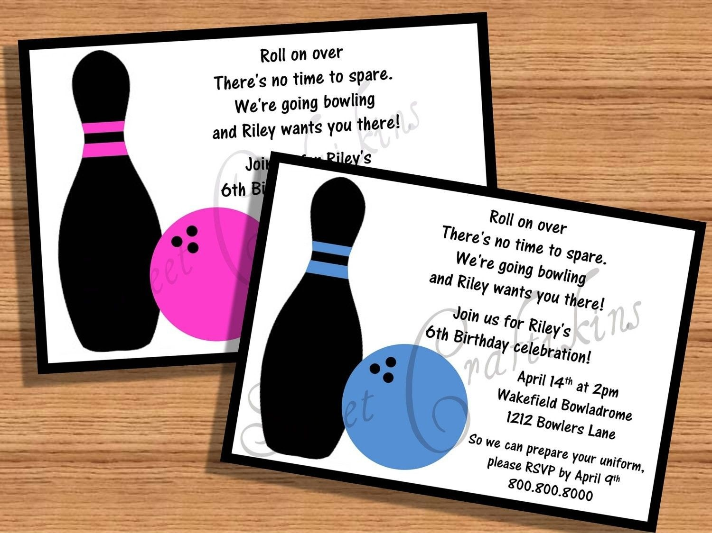 Kids Birthday Party Invitations Templates Free Printable - Free Printable Bowling Birthday Party Invitations