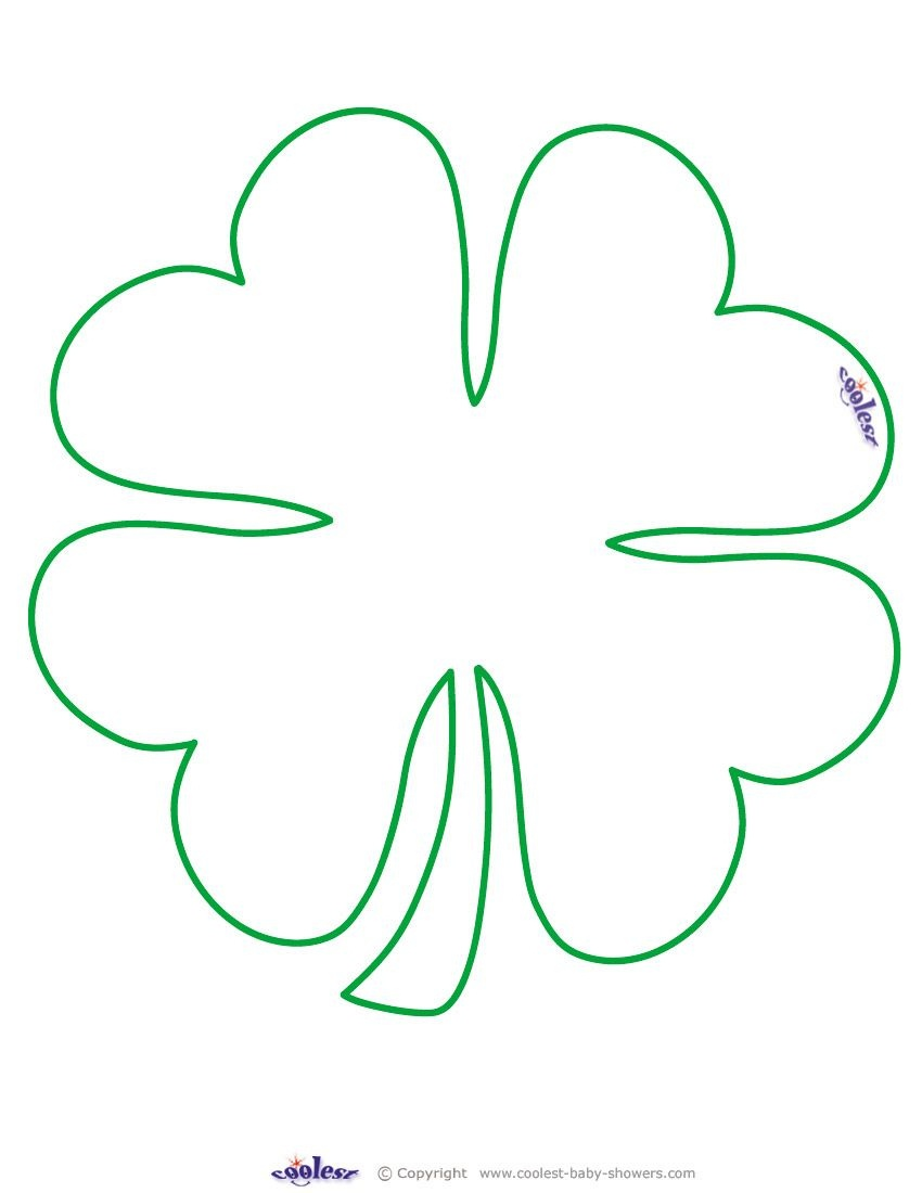 Large Printable Clover Coolest Free Printables … | Tattoo Canvas - Free Printable Shamrock Cutouts