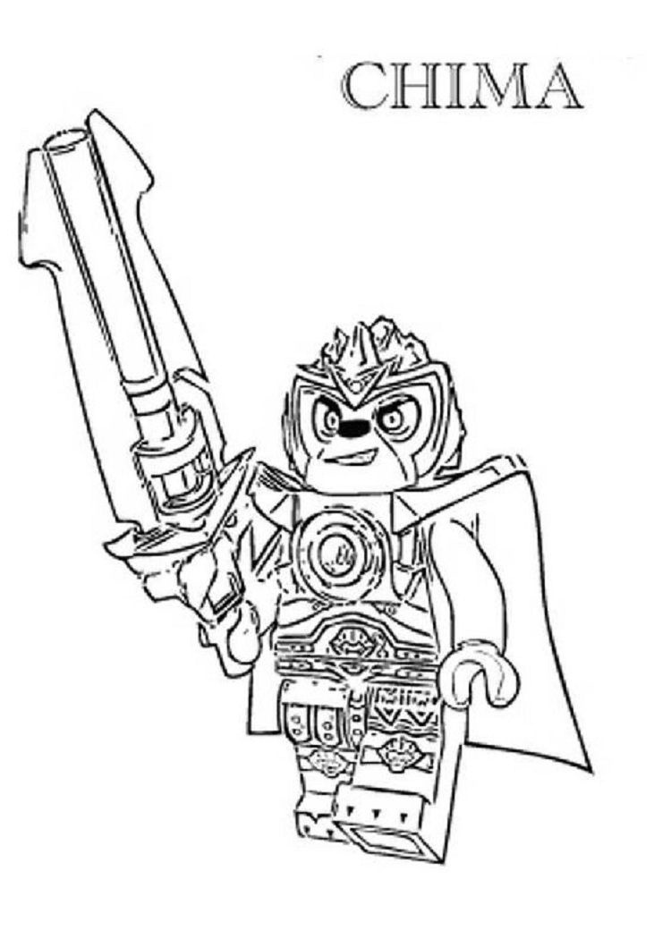 Lego Chima Coloring Pages Lion | Coloring Pages For Kids | Lego - Free Printable Lego Chima Coloring Pages