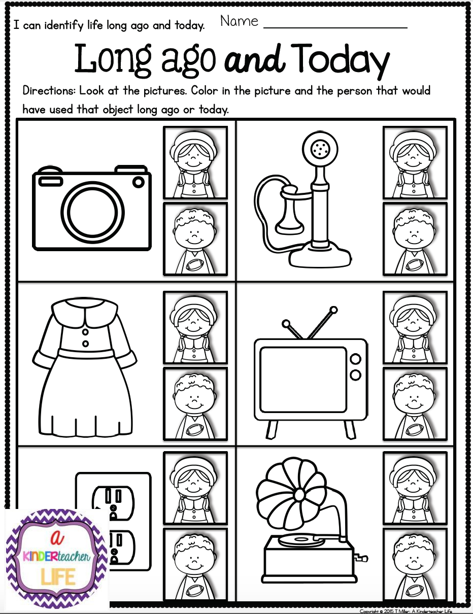 Life Long Ago And Today Activities And Sorting Worksheets   Best Of - Social Studies Worksheets First Grade Free Printable