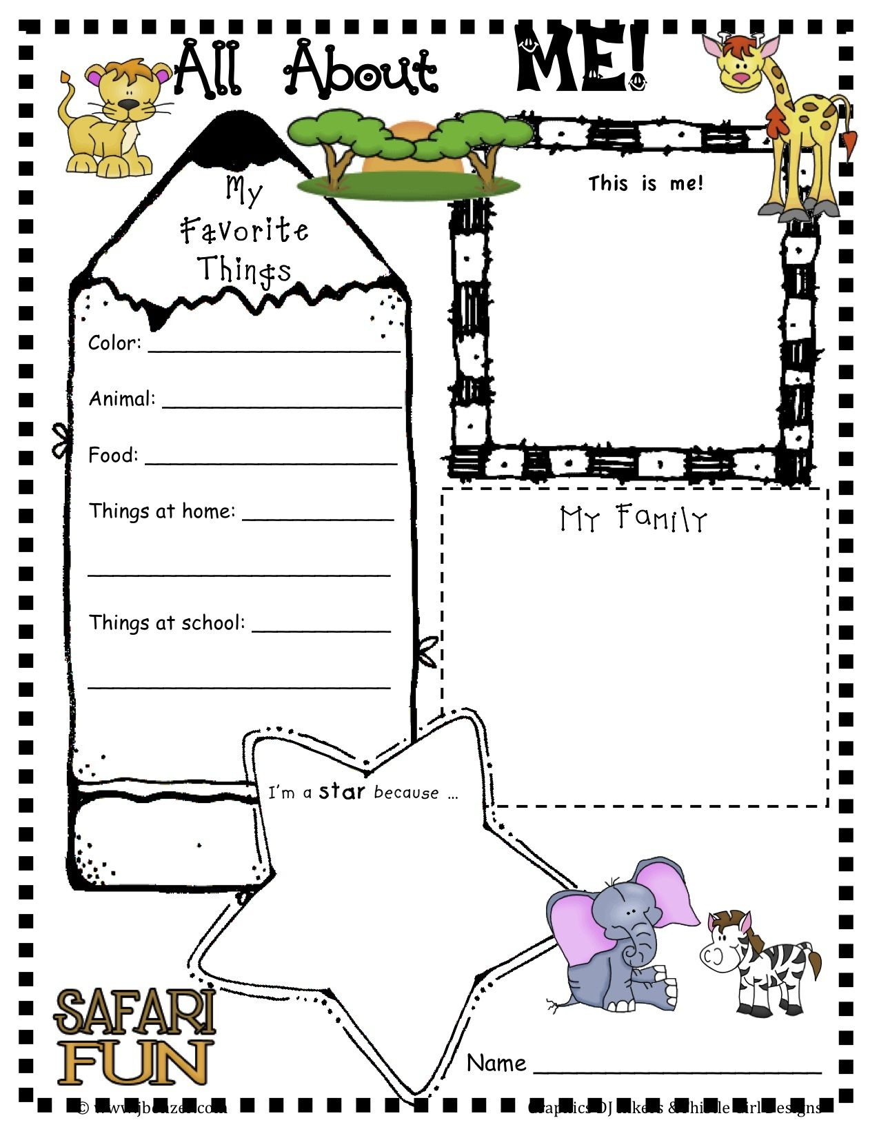 Loads Of Free Printables- Not Just For Back To School!! | Writing - Free Printable All About Me Poster
