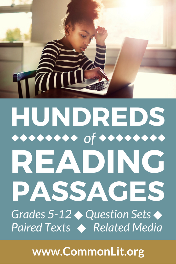 Looking For Middle- And High-School Reading Passages? Wwwmonlit - Free Printable Short Stories For High School Students