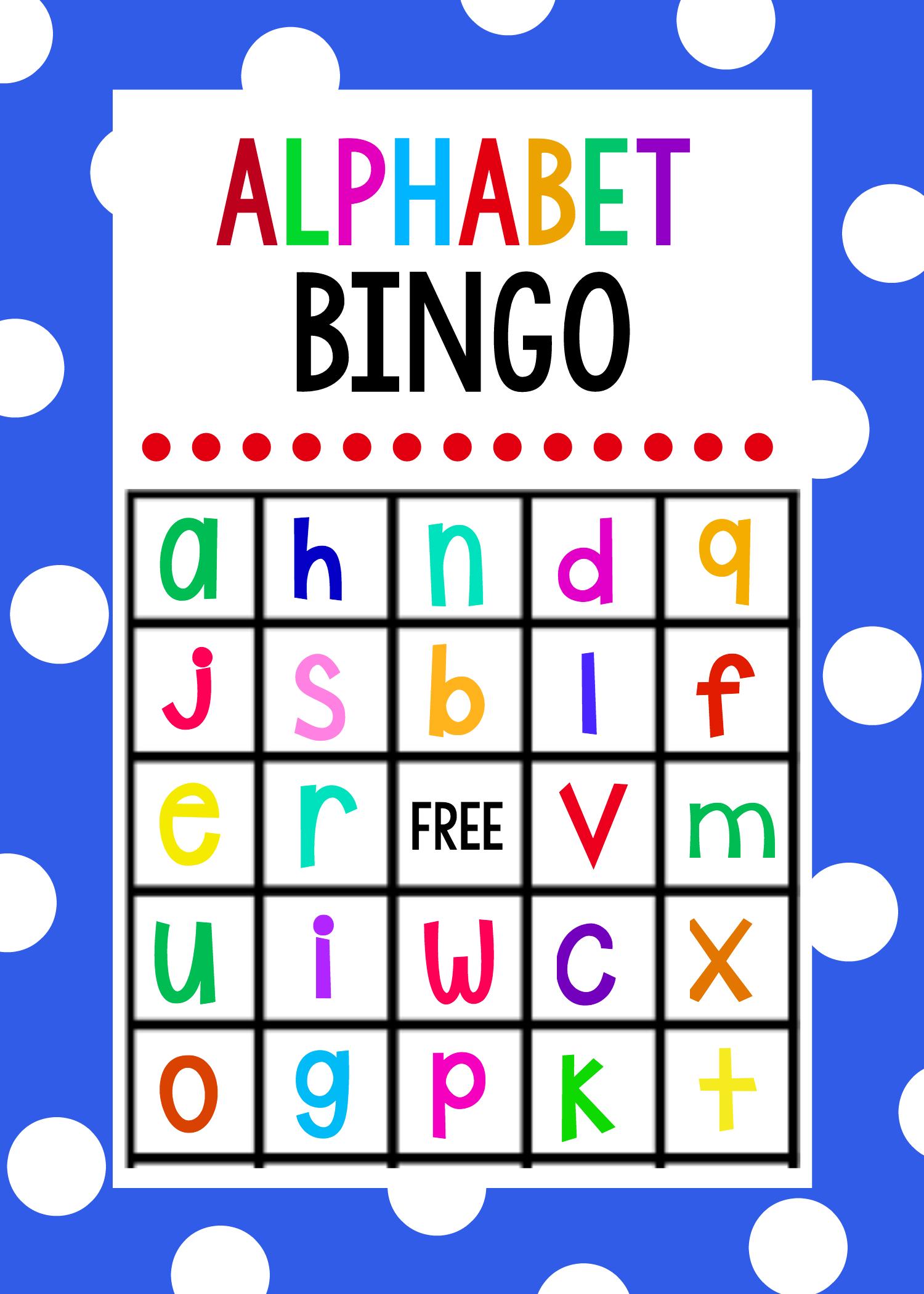 Lowercase Alphabet Bingo Game - Crazy Little Projects - Free Printable Alphabet Bingo Cards