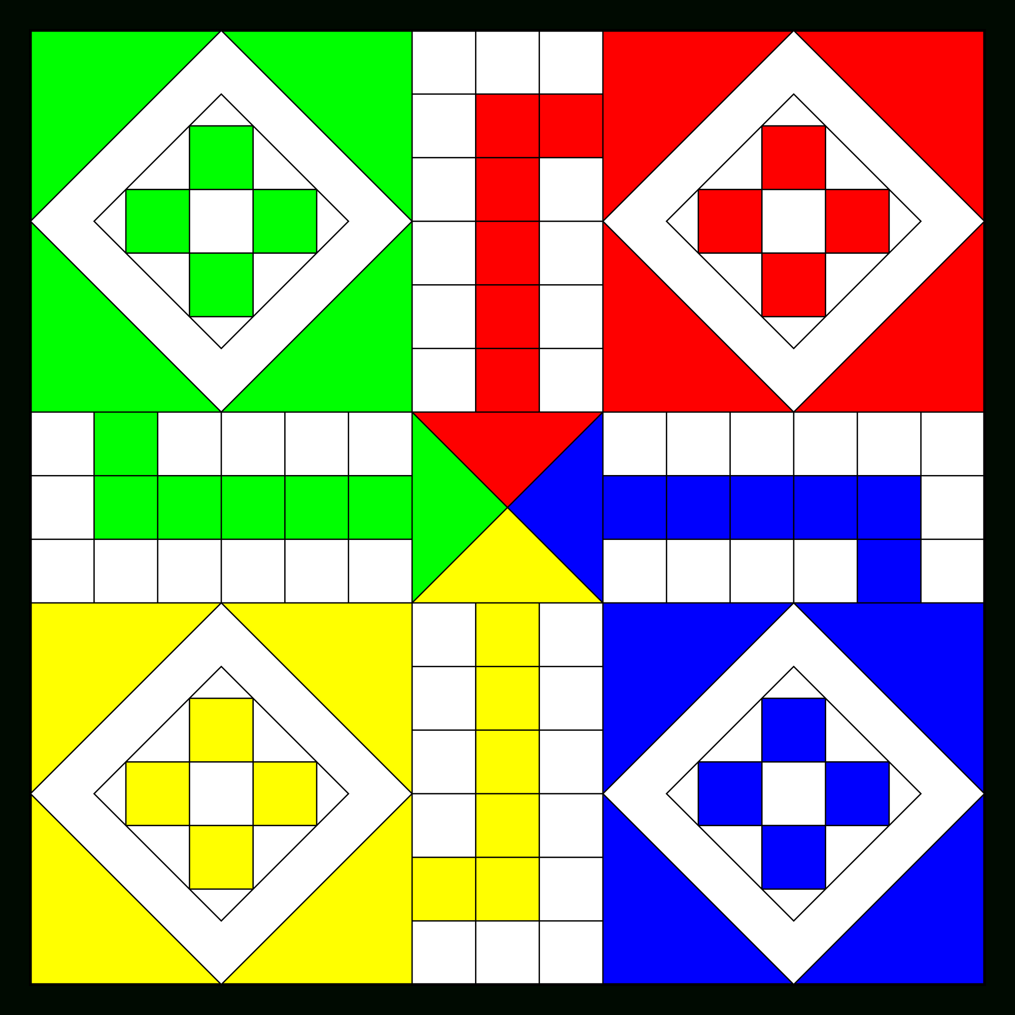 Ludo (Board Game) - Wikipedia, The Free Encyclopedia - Clip Art Library - Free Printable Ludo Board