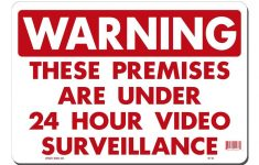 Lynch Sign 14 In. X 10 In. 24 Hour Video Surveillance Sign Printed – Printable Video Surveillance Signs Free