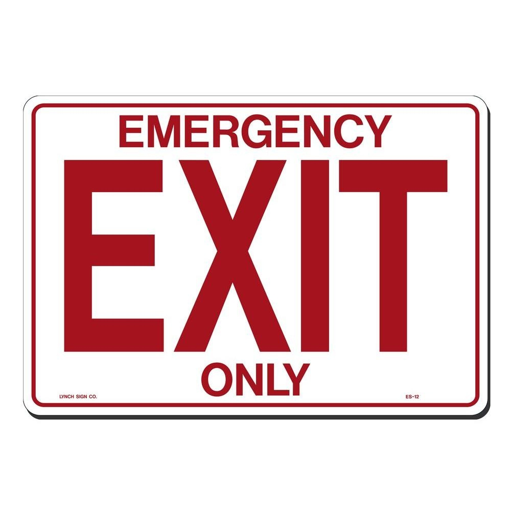 Lynch Sign 14 In. X 10 In. Emergency Exit Only Sign Printed On More - Free Printable Emergency Exit Only Signs