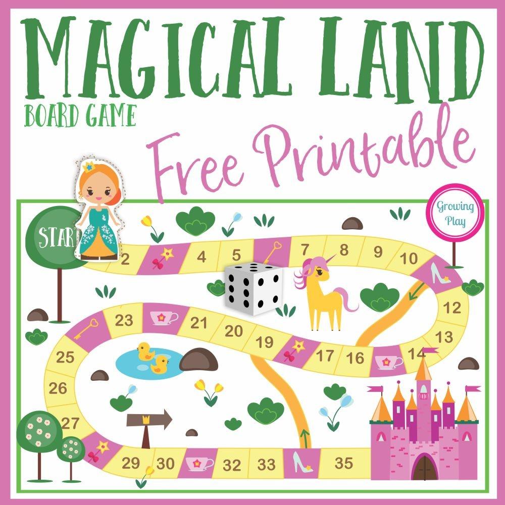 Magical Land Board Game Free Printable - Growing Play - Free Printable Board Games