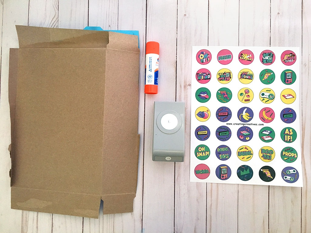 Make A 90S Pogs Game With This Free Printable - Creating Creatives - Printable 90S Props Free